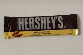 hershey almond candy bars. Fine Almond HERSHEYu0027S Whole Almond Chocolate Bar 43 G To Hershey Candy Bars 0