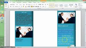 How To Make A Brochure On Microsoft Word Mac Word 2010 Tutorial Make A Brochure In 10 Min Computer