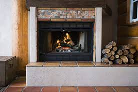protect the floor in front of your fireplace by building a fireproof cement hearth