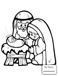 Manger Coloring Page Betterfor