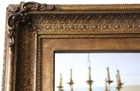 large antique gilt wall or overmantle
