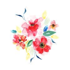wild watercolour flower bouquet wild watercolour flower bouquet