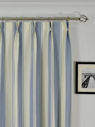 Moonbay Stripe Double Pinch Pleat Cotton Extra Long Curtain 108 - 120 Inch  Panel - Cheery Curtains