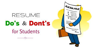 Important Resume Tips Important Resume Dos And Donts For Students To Remember Wisestep