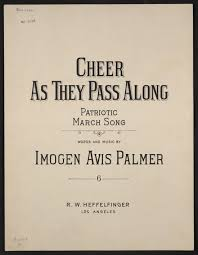 Image 1 of Cheer as they pass along patriotic march song | Library of  Congress