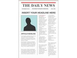 Custom Newspaper Template Editable Newspaper Template Portrait