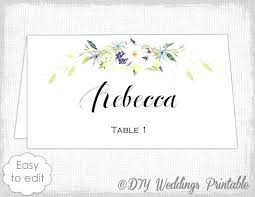 Table Name Cards Template Word Place Card Template Free Table Name