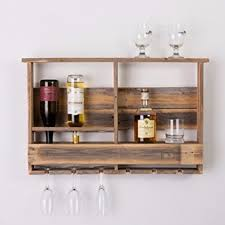 Barnwood Bar dakota love reclaimed wood barnwood bar inverted wine rack shelf a 8281 by guidejewelry.us