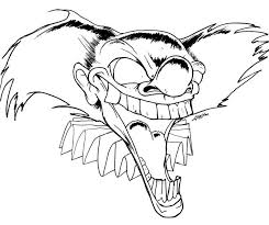 Small Picture Coloring pages of scary clowns scary clown coloring page coloring