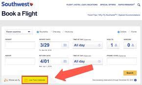 Southwest Rapid Rewards Points Chart How To Use Southwest Points For Award Flights Million Mile
