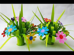 Paper Flower Bouquet In Vase Diy How To Make Paper Flower Bouquet Simple Paper Crafts Home Decor Ideas