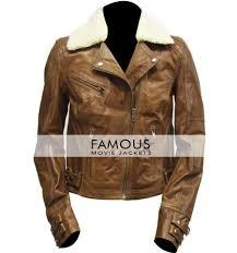 motorcycle jacketswomen fur collar brown biker jacket previous