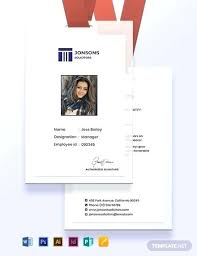 Law Firm Identity Card Template Staff Id Employee Free
