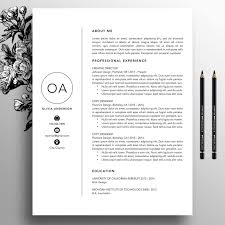 Professional Resume Template Cv Template Cover Letter For Ms Word Creative Resume Template Instant Digital Download Mac Pc Olivia