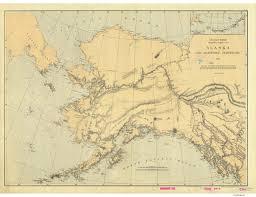 Alaska Nautical Charts Alaska And Adjoining Territory 1869 Nautical Chart 3 417 398 Scale Alaska Sailing Chart 960