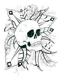 Sugar Skull Color Pages Flames Coloring Pages Sugar Skull Color