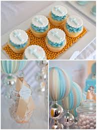 Boy Baptism Decorations Pretty Blue And Gold Boys Christening Sweet Table Decorao