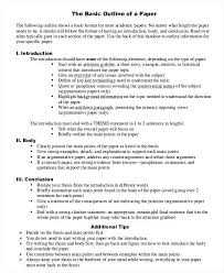Outline Essay Examples Basic Research Paper Outline Template