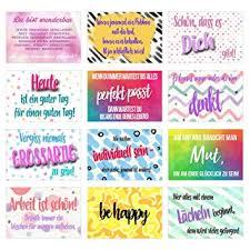 Set 12 Postkarten Mit Sprüchen Karten Mit Spruch Geschenkidee Dekoidee Liebe Freundschaft Leben Motivation Lustig Postcrossing