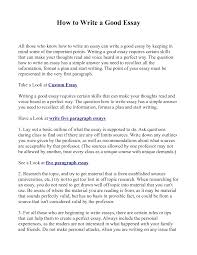 how do i write a good essay how to write good essay introduction professional resume examples