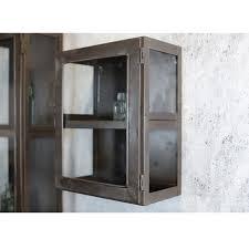 em home nu rustic display cabinet glass door hanging