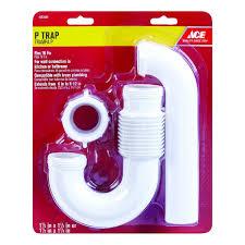 Ace 1 12 In Slip X 1 14 In Dia Slip Pvc Drain Trap Ace Hardware