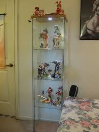glass door cabinet ikea with ikea detolf for placed middle room decor