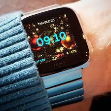 Christmas Lights Fitbit Clock Face Versa
