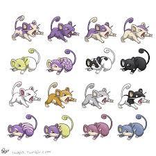Rattata Evolution Chart Rattata Variants By Twapa Pokemon Breeds Pokemon Pokemon