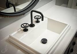kohler tresham sink.  Sink Kohler Tresham Sink Waterworks Faucet Black Boys Bathroom Cambria  Quartz Round Mirror Navy Base On O
