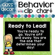 Chalkboard Classroom Decor Behavior Clip Up Chart