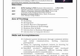 Resume Format For Lecturer Post Pdf In Commerce Computer Science ...