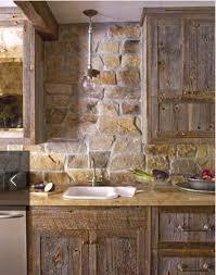 Backsplash Ideas, Kitchen Backsplash Stone Stacked Stone Backsplash Rustic  Cabinets Wood Kitchen Cabinets: astounding