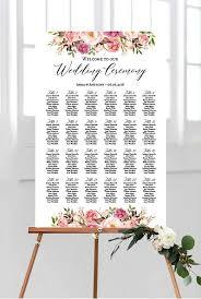 Floral Wedding Seating Charts Diy Seating Chart Download