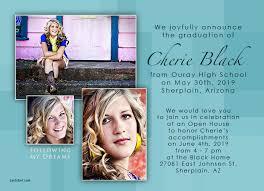 High School Graduation Announcement Graduation Announcement And Invitation Wording Ideas