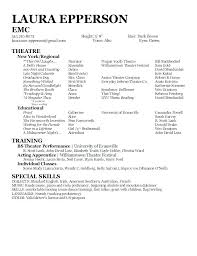Actor Resume Examples Adorable Actor Resume Format Thian