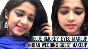 makeup blue smokey eyes makeup tutorial in hindi wedding guest makeup smokey eye makeup for beginners