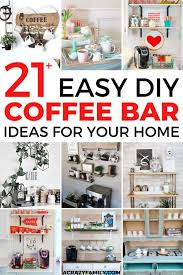 A white wall, a white shelf, white cups, and white art pieces. 21 Stylish Diy Coffee Bars To Add To Your Home