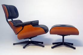 authentic eames lounge chair. Authentic Eames Lounge Chair : Fantastic And Ottoman With Blue Leather Cushion .