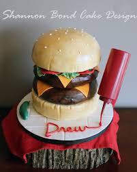 Burger Cake Design Double Cheeseburger Cake