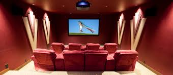 contemporary media room decorating arrangement idea. Home And Media Room With Wall Lightings Contemporary Decorating Arrangement Idea
