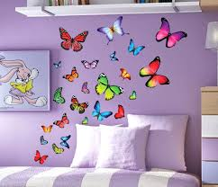 butterfly wall decals for kids rooms butterfly wall decor butterfly wall  art wall wood clock home