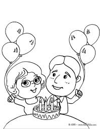 Small Picture Girl with a birthday cake coloring pages Hellokidscom