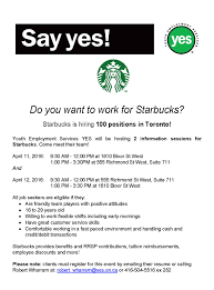 Starbucks Barista Job Description For Resume Starbucks is hiring for 100 Barista positions Youth Employment 59