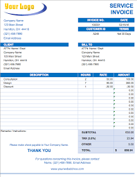 Free Excel Invoice Template Download Excel Bill Template Free Excel Invoice Templates Smartsheet Download
