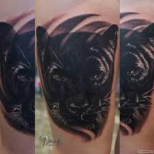 фото тату чёрная пантера