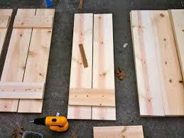 home diy wood shutters