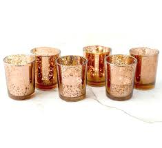 gold glass candle holders set of copper rose gold mercury glass candle votive mercury glass tea gold glass candle holders