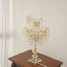 chandelier table lamp gold desk lamp princess system classic home fixture antique house furniture european furniture will fit crystal 40w e26 imported
