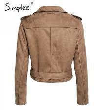 y leather jacket suede faux leather women zipper belt moto jacket cool streetwear las leather jackets